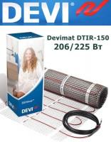 Двухжильный нагревательный мат Devimat DTIR-150 206/225 Вт - 1,5м