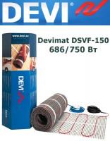 Одножильный нагревательный мат Devimat DSVF-150 686/750 Вт - 5,0кв.м