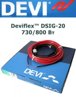 Одножильный кабель Deviflex DSIG-20 730/800 Вт 39м
