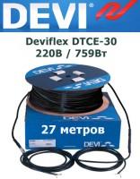 Нагревательный кабель Deviflex DTCE-30 220В / 759Вт 27 м