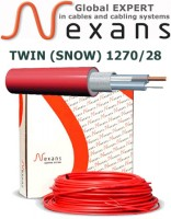 Резистивный двужильный нагревательный кабель DEFROST TWIN (SNOW) 1270/28 45,4м