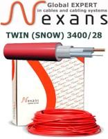 Резистивный двужильный нагревательный кабель DEFROST TWIN (SNOW) 3400/28 120,0м